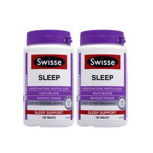 【超值组合】澳洲 Swisse 促进睡眠片(100粒)改善睡眠 舒缓压力(2件组合)