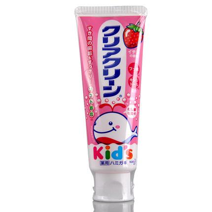日本花王(KAO)婴幼儿木糖醇牙膏(安全可吞咽)(草莓味 70克)