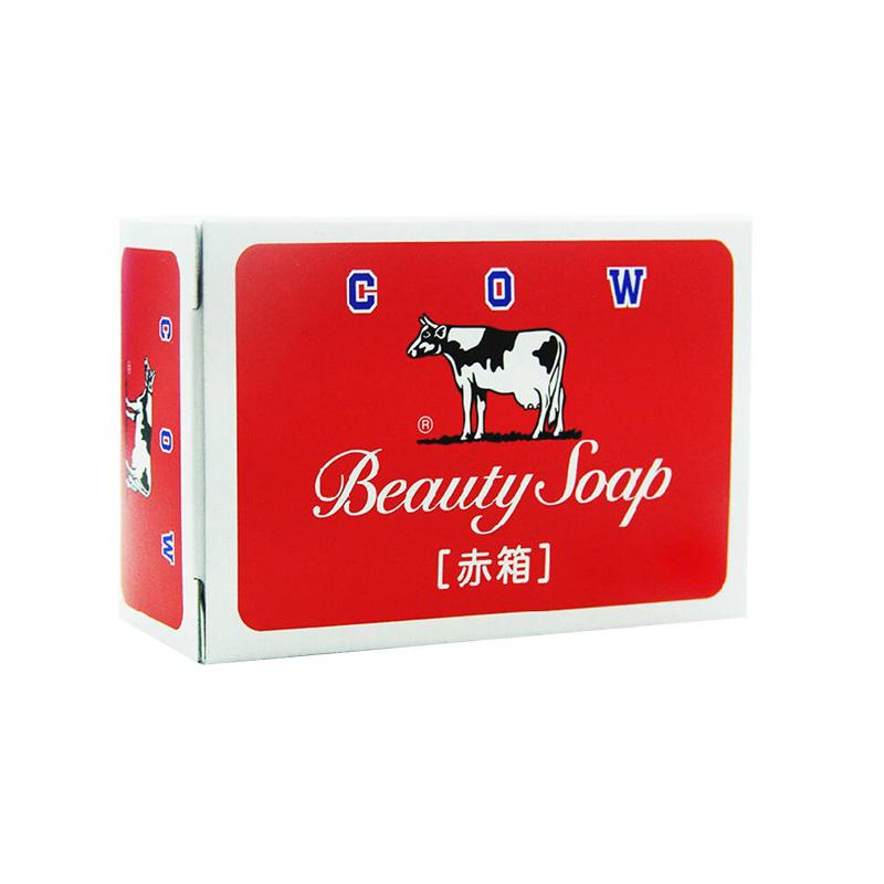 【一般贸易】日本牛乳石碱(COW)香皂 洁面美肤皂 滋润型 100g (红盒)