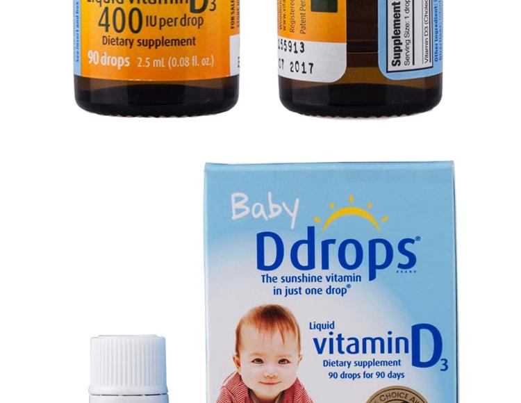 加拿大Ddrops婴儿维生素D3滴剂