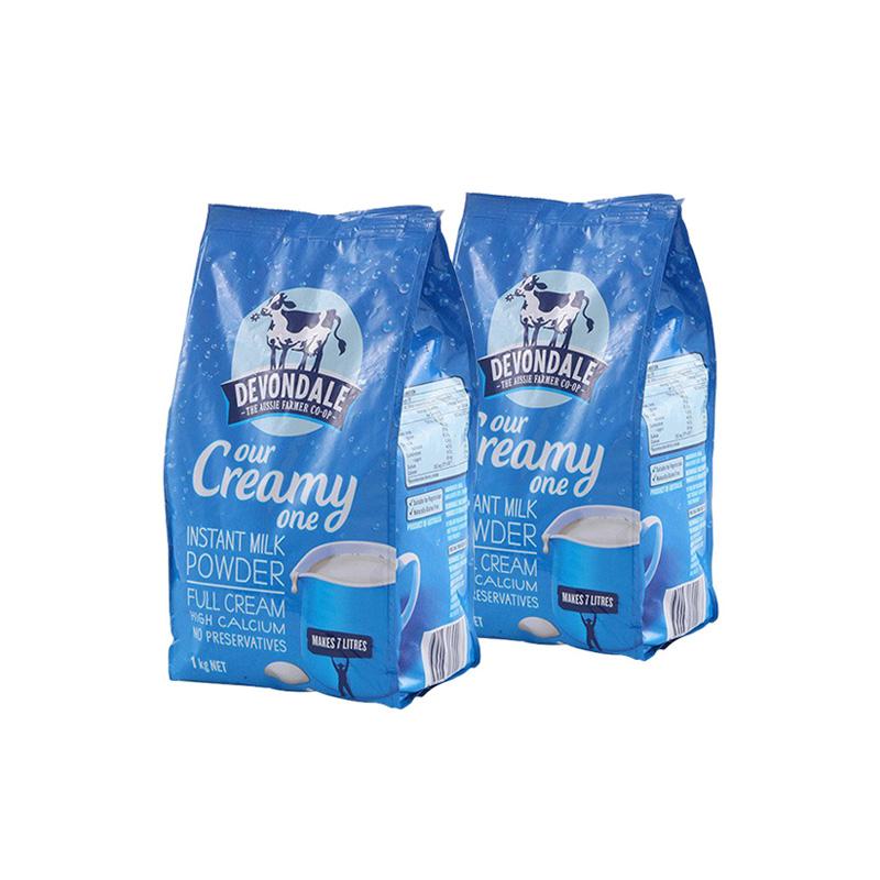 【2件装】澳洲德运(Devondale)高钙全脂成人牛奶粉(1000克)2件组合