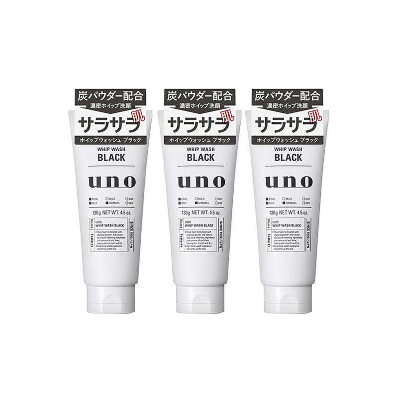 【超值3件装】SHISEIDO 资生堂 UNO男士泡沫快速洁面奶洗面奶 130g