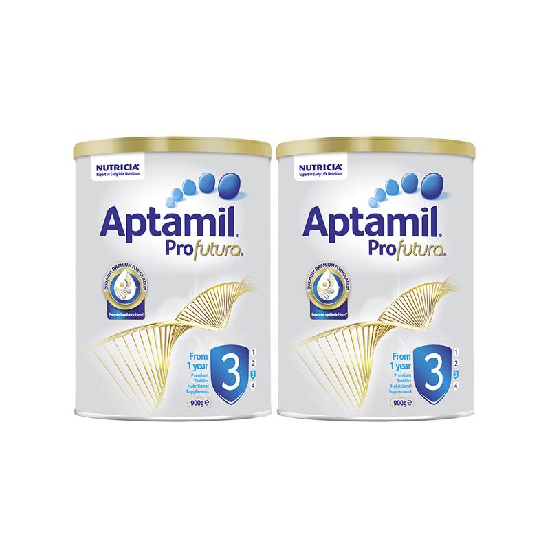 【两件装】澳洲爱他美白金版Aptamil婴幼儿配方奶粉 3段 (适合1-3岁)900g